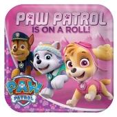 Paw Patrol Pappteller mit Everest und Skye, 8 Stück