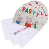 Peppa Wutz Einladungskarten zum Kindergeburtstag, 8 Stück