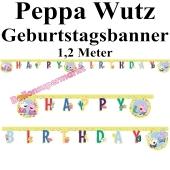 Kindergeburtstagsbanner Peppa Wutz