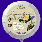 Luftballon zur Jugendweihe, personalisiert mit einem Namen