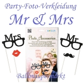 Party-Foto-Verkleidung Mr & Mrs