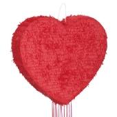Herz Pinata, rot