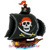 Luftballon aus Folie Piratenschiff, Folienballon mit Ballongas