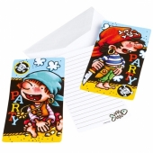 Pirates Einladungskarten zum Kindergeburtstag