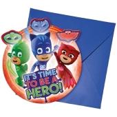 PJ Masks Einladungskarten zum Kindergeburtstag