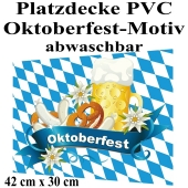 Oktoberfest Platzdecke, Tischdekoration, 42 x 30 cm, PVC, abwaschbar