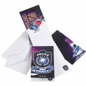 Polizei Einladungskarten zum Kindergeburtstag