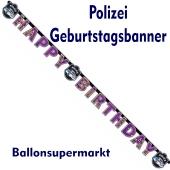 Polizei Geburtstagsgirlande zum Kindergeburstag