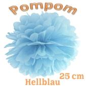 Pompom Hellblau, 25 cm