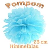 Pompom Himmelblau, 25 cm