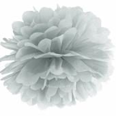 Pompom Silber, 35 cm