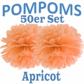 Pompoms Apricot, 50 Stück