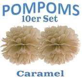 Pompoms Caramel, 10 Stück