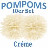 Pompoms Créme, 10 Stück