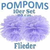 Pompoms Flieder, 25 cm, 10 Stück