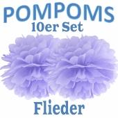 Pompoms Flieder, 10 Stück