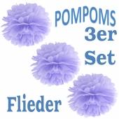 Pompoms Flieder, 3 Stück