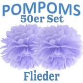 Pompoms Flieder, 50 Stück