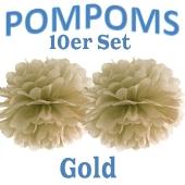 Pompoms Gold, 10 Stück