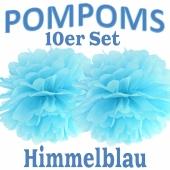Pompoms Himmelblau, 10 Stück