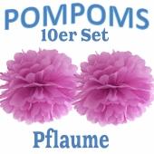 Pompoms Pflaume, 10 Stück