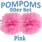 Pompoms Pink, 50 Stück