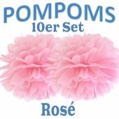 Pompoms Rosé, 10 Stück