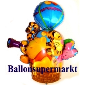 Winnie Puuh, Tigger und Ferkel im Fesselballon Luftballon aus Folie inklusive Helium