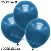Premium Metallic Luftballons, Blau, 30-33 cm, 10000 Stück