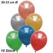 Premium Metallic Luftballons, Bunt gemischt, 30-33 cm, 10 Stück
