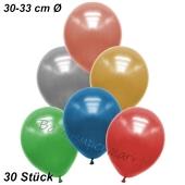 Premium Metallic Luftballons, Bunt gemischt, 30-33 cm, 30 Stück