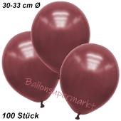 Premium Metallic Luftballons, Burgund-Maroon, 30-33 cm, 100 Stück