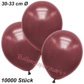 Premium Metallic Luftballons, Burgund-Maroon, 30-33 cm, 10000 Stück