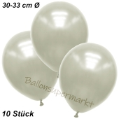 Premium Metallic Luftballons, Elfenbein, 30-33 cm, 10 Stück