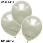 Premium Metallic Luftballons, Elfenbein, 30-33 cm, 100 Stück