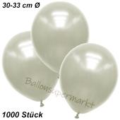 Premium Metallic Luftballons, Elfenbein, 30-33 cm, 1000 Stück