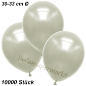 Premium Metallic Luftballons, Elfenbein, 30-33 cm, 10000 Stück