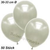 Premium Metallic Luftballons, Elfenbein, 30-33 cm, 50 Stück