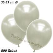 Premium Metallic Luftballons, Elfenbein, 30-33 cm, 500 Stück