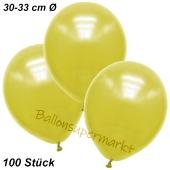 Premium Metallic Luftballons, Gelb, 30-33 cm, 100 Stück
