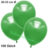 Premium Metallic Luftballons, Grün, 30-33 cm, 100 Stück