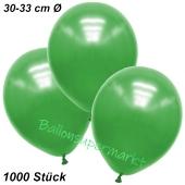Premium Metallic Luftballons, Grün, 30-33 cm, 1000 Stück