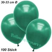 Premium Metallic Luftballons, Malachitgrün, 30-33 cm, 100 Stück