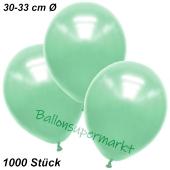 Premium Metallic Luftballons, Mintgrün, 30-33 cm, 1000 Stück