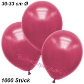 Premium Metallic Luftballons, Pink, 30-33 cm, 1000 Stück