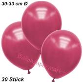 Premium Metallic Luftballons, Pink, 30-33 cm, 30 Stück