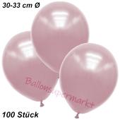 Premium Metallic Luftballons, Rosa, 30-33 cm, 100 Stück