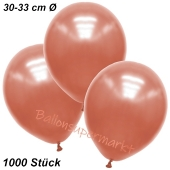 Premium Metallic Luftballons, Rosegold, 30-33 cm, 1000 Stück