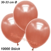 Premium Metallic Luftballons, Rosegold, 30-33 cm, 10000 Stück
