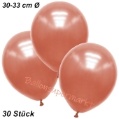 Premium Metallic Luftballons, Rosegold, 30-33 cm, 30 Stück
